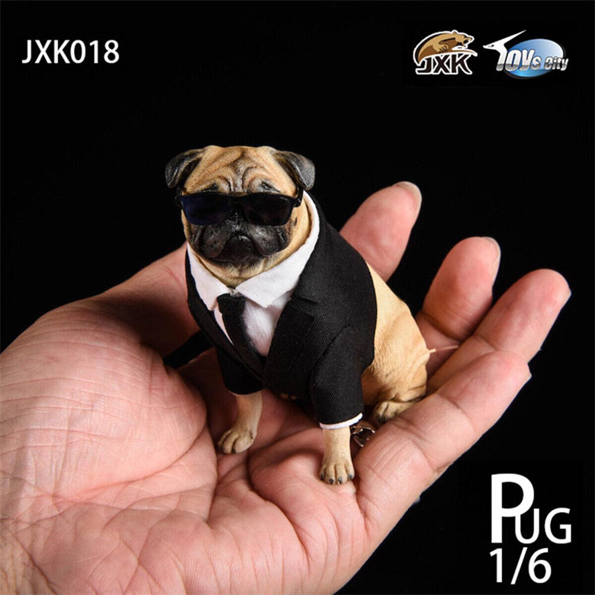JxK 1 6 Suit Pug cifra Dog Pet  Animal modellololo Collector Decor giocattolo GK Pre-order  promozioni di sconto
