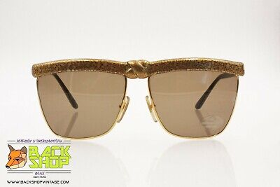 Laura Biagiotti P35 42d Rare Vintage Sunglasses Golden Aged Effect, X Middle
