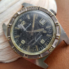 Vintage Baylor Neptune Divers Watch w/Engine Turned Bezel,All SS Case,AS 1903
