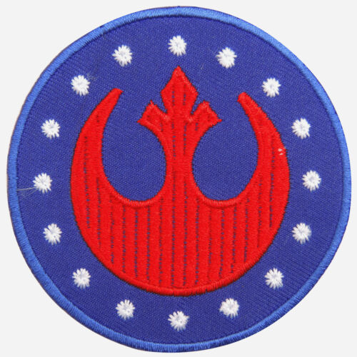 New Republic Star Wars Logo Sew Embroidered Iron on Patch T Shirt Cap Jacket M02