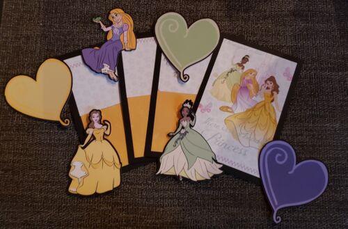 Disney princess scrapbook page set photo mats and printed die cuts set #125