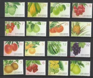 CHINA-Taiwan-2016-2017-142-Fruits-Postage-Stamps-1-4-Full-set