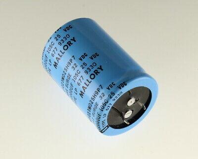 25x 390uF 35V Radial Electrolytic Aluminum Audio Capacitor 35VDC 390mfd 105C