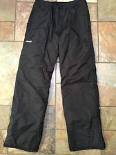 Men's Boys Ski gear Insulated Ski Black Pants Sz X Large Inseam 31 Euc