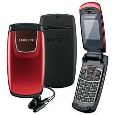 New Samsung C276 Flip Fold Easy to Use Compact Lightweight Mobile Phone - red