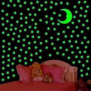Leuchtsterne-Wandtattoo-leuchtende-Stars-MEGASET-311-Sterne-1-MOND-Sternenhimmel