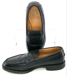Allen Edmonds Breton Penny Loafer Mens Sz 7.5 EEE Black Leather Slip On Shoe USA