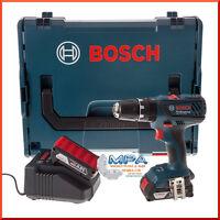 Bosch 18v Cordless Combi Drill, 2 X 2ah Li Batteries In Carry Case Bundle