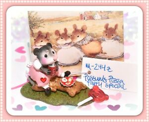 Wee-Forest-Folk-M-244z-Possum-039-s-Pizza-Party-Valentine-PINK-SPECIAL-Color
