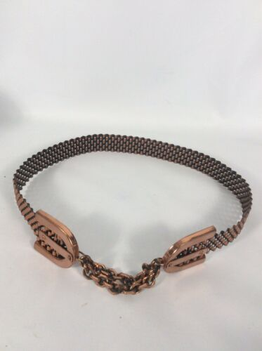 Beautiful Vtg Renoir Copper Modernist Mesh Chain B