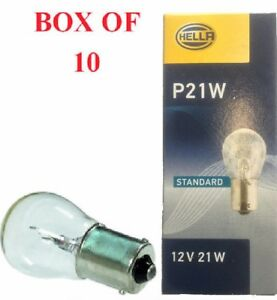 Genuine Pack of 2 Lucas LLB382 12V 21W Stop//Fog//Reverse /& Indicator Bulb P21W