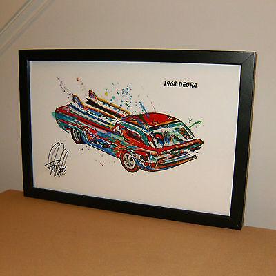 Hot Wheels 1968 Hot Heap Redline Car Racing Poster Print Wall Art 8.5x11