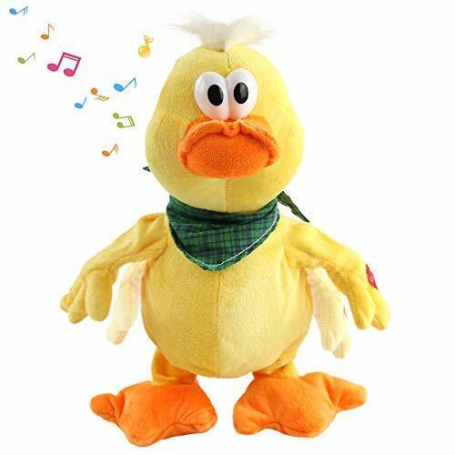 Quacking Duck Musical Duckling Stuffed Animal with a bib Walking Yellow