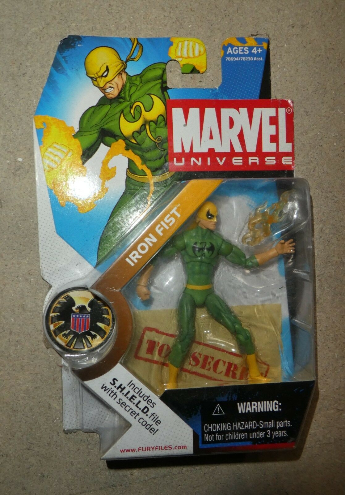 Marvel - comics - universum klassische eiserne faust grün 3,75  abbildung neue