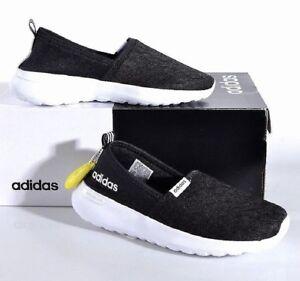 87a2afbd1 Adidas Women s Cloudfoam Lite Racer Slip-On Running Shoes - Black ...
