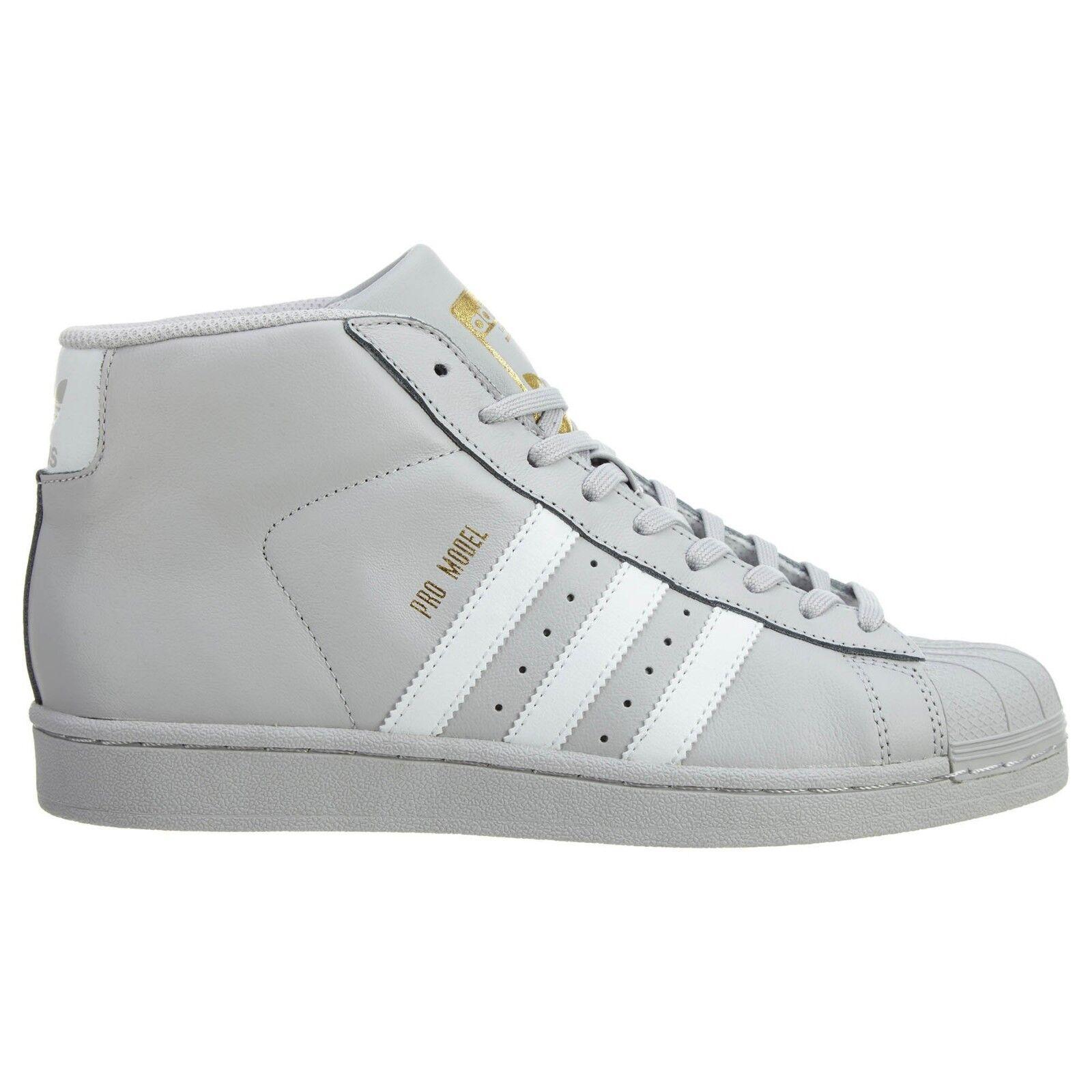Adidas Originals Men's PRO MODEL shoes Grey White gold Metallic CG5073 b