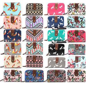 Ladies-Women-Designer-Oilcloth-Purse-Wallet-Girls-Coin-Purse-Bag