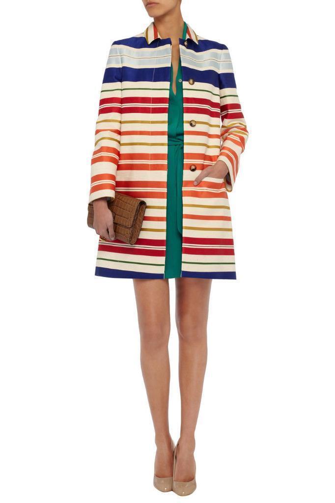 STELLA MCCARTNEY Stripe Coat UK6-8 IT38 Dress New Authentic