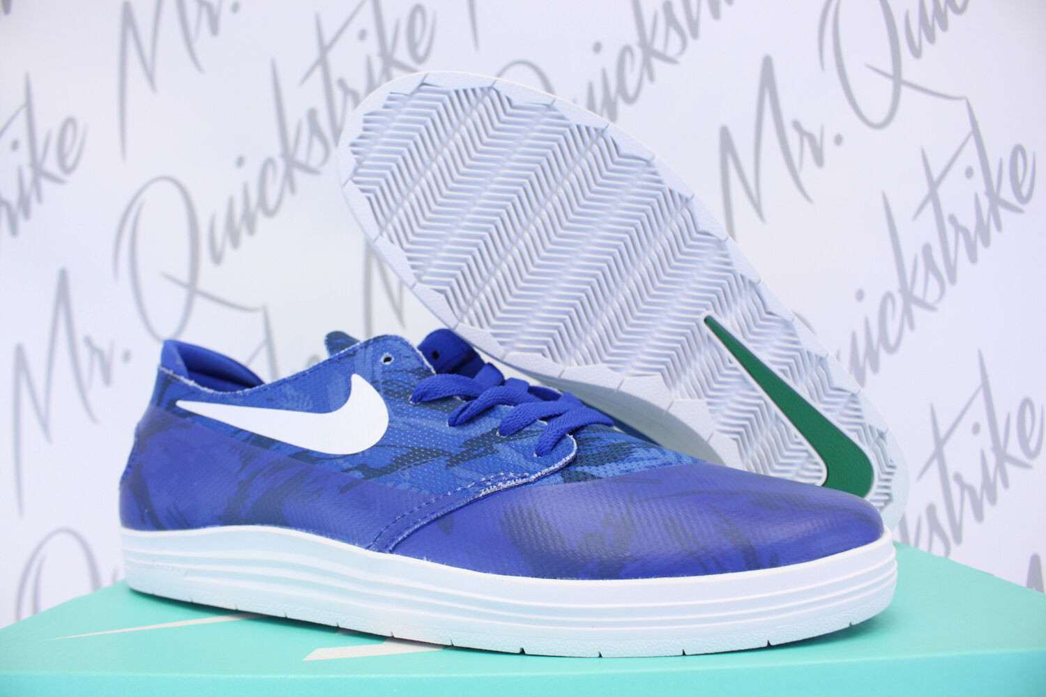 NIKE LUNAR ONESHOT SB WC SZ 8 GAME ROYAL blueE WHITE ONE SHOT 645019 401