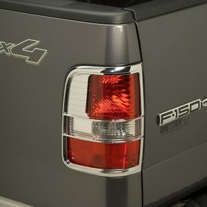 401805 putco chrome tail light covers ford f150 2004 2008 ebay. Black Bedroom Furniture Sets. Home Design Ideas