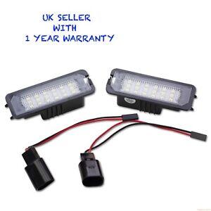 Vw-Golf-MK4-R32-GTI-TDI-LED-Number-License-Plate-Light-ERROR-FREE-CANBUS