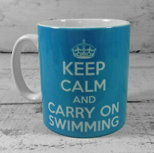 NEW-KEEP-CALM-AND-CARRY-ON-SWIMMING-GIFT-MUG-CUP-PRESENT-costume-SWIMMER-fitness