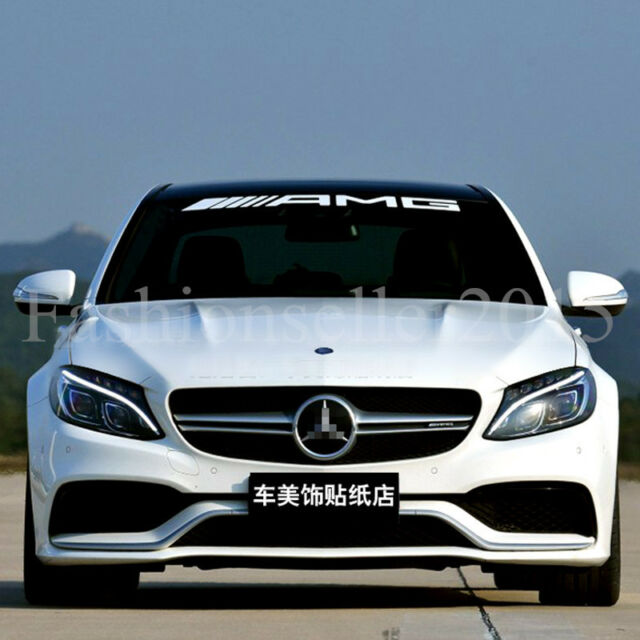 Amg front rear windshield decal vinyl car stickers for mercedes benz auto window