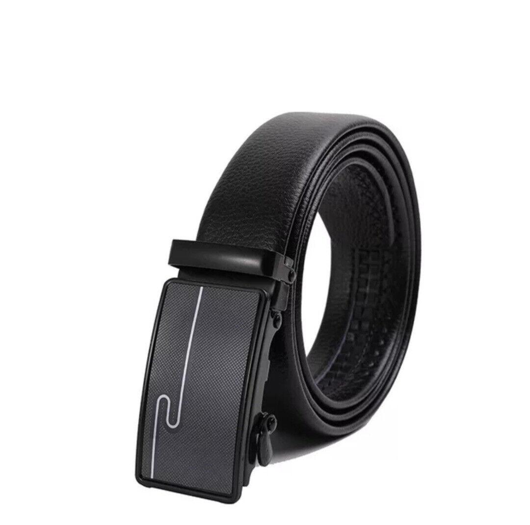 Men's Belt Men Belt Black Without Holes Automatic Belt 24