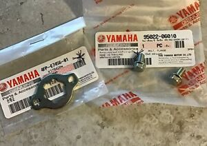 Genuine-Yamaha-YBR125-2005-2006-Front-Sprocket-Retainer-Plate-And-Fixing-Bolts
