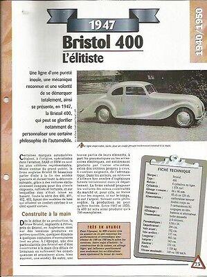 Ordinato Voiture Bristol 400 Fiche Technique Auto 1947 Collection Car I Consumatori Prima