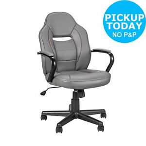 Argos Home Mid Back Gaming Chair - Grey