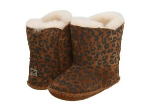 a6b0f37c75c Details about Ugg Australia Baby Booties Cassie Leopard Brown Size Small  0/1 0-6 Months New