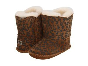 ecba84877e3 Details about Ugg Australia Baby Booties Cassie Leopard Brown Size Small  0/1 0-6 Months New