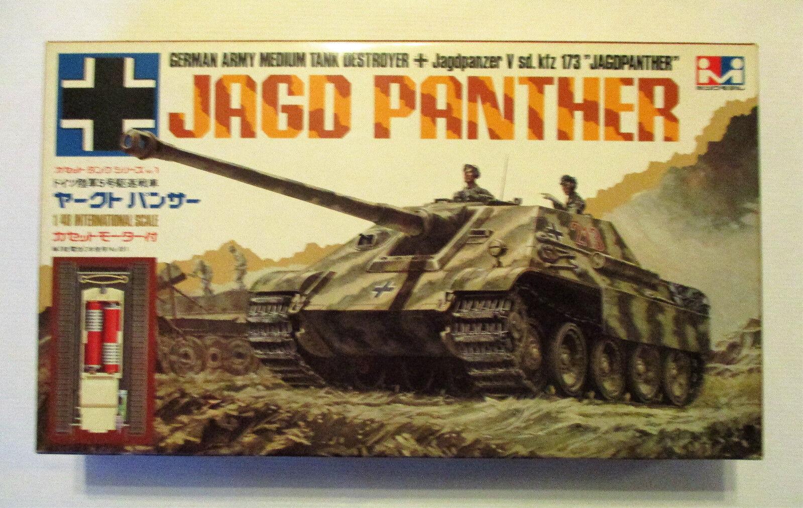 Vintage and rare 1 48 MITSUWA German WW2 Jagdpanther motorized model kit