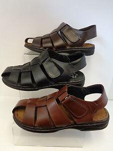 nero da uomo  marronemarrone scuro Sandali di Cuoio taglie UK 6 11 b207814