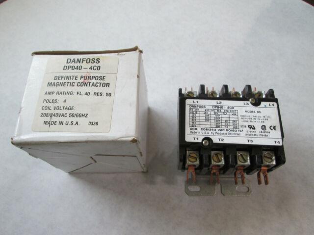 New Danfoss Dp040 240 Volt Coil  4 Pole  40 Amp  Chipped