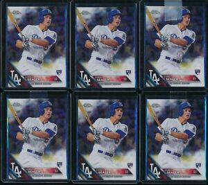2016-Topps-Chrome-Corey-Seager-RC-6-Card-Lot-150-Rookie-Los-Angeles-Dodgers