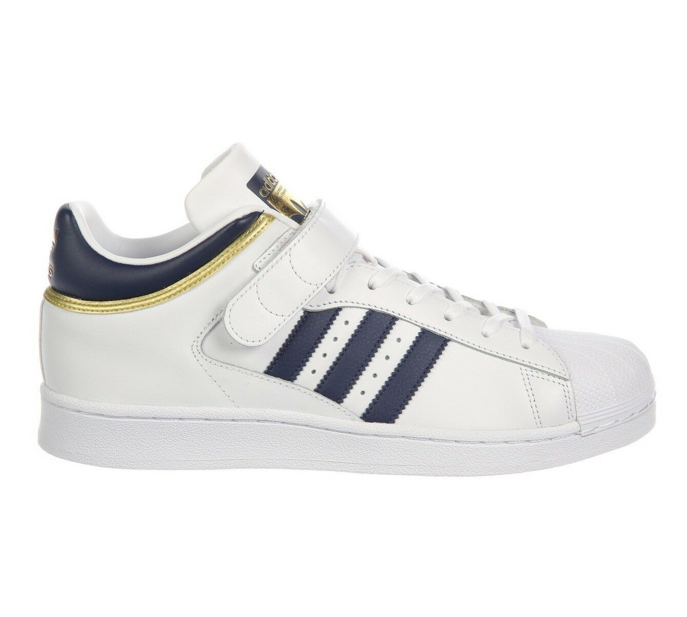 Adidas Pro Shell Mens BY4383 White Collegiate Navy Gold Leather Shoes Comfortable Cheap and beautiful fashion