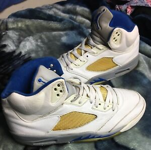 new style 8d534 27af8 Image is loading Nike-Air-Jordan-V-5-Retro-WHITE-ROYAL-