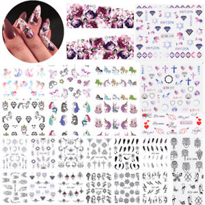 Details about Nail Water Decals Stickers Kit Flower Dreamcatcher Nail Art  Transfer