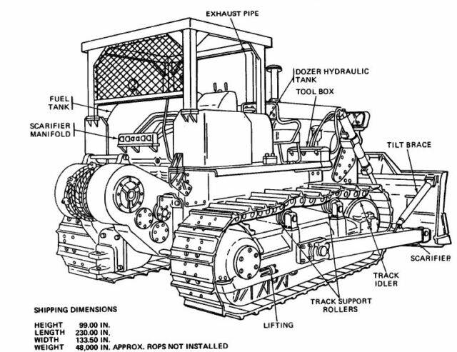 Caterpillar D-7e D7e D7-e Parts Service Repair and Operator Manuals on CD