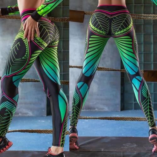 Womens Push Up Yoga Pants Anti Cellulite Leggings Sports Gym Fitness Trousers