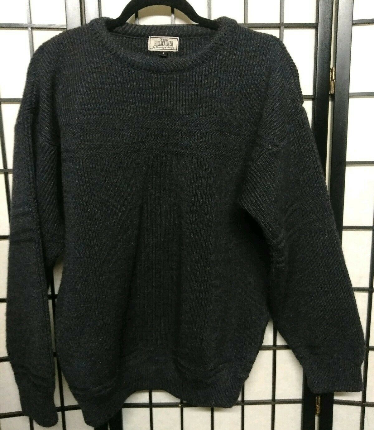Mens Kennedy of Ardara Knit Pure New Ireland Irish Wool Sweater The Hillwalker L