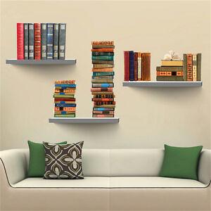 Image Is Loading 3D Bookshelf Wall Sticker Vinyl PVC Mural