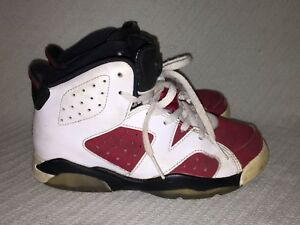 differently 1b883 61242 Details about Nike Air Jordan 6 Retro BP Kids White/Carmine-Black Sneakers  384666-160 Size 13C