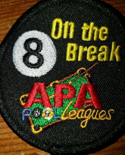 APA 8 ON THE BREAK PATCH AMERICAN POOLPLAYERS NEW