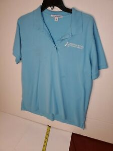 American Access Casualty Company Insurance Woman Size Xl Teal Polo Shirt Ebay