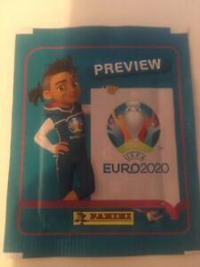 Nuevo Panini UEFA EURO 2020 Pegatinas de vista previa Genuino gastos de envío gratis Francia Italia