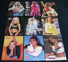 Britney Spears clippings  9 Full page Magazine Pinups Lot B300