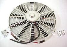 "14"" Chrome Straight Blade Electric Radiator Cooling Fan 12v 2383 CFM"